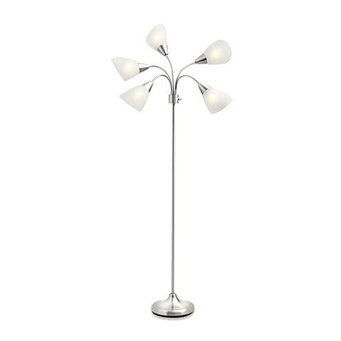 Studio 3b 5 light floor lamp with cfl bulbs bed bath beyond aloadofball Images