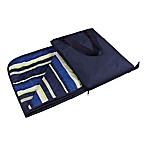 Picnic Time® Vista Blanket Tote in Navy with Blue Stripes