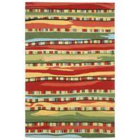 Trans-Ocean Ravella Fiesta 7-Foot 6-Inch x 9-Foot 6-Inch Indoor/Outdoor Area Rug in Red