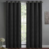 Wyatt Lined 63-Inch Window Curtain Panel in Black