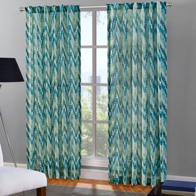 Green Curtains blue and green curtains : Buy Chevron Curtains from Bed Bath & Beyond