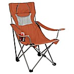 Picnic Time® Campsite Camping Chair in Burnt Orange/Grey