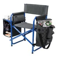 Picnic Time® Fusion Camping Chair in Dark Grey/Blue