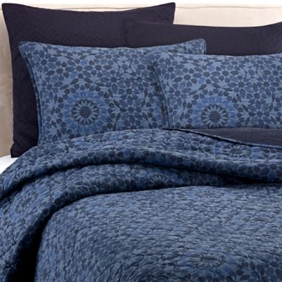 real simple aria twin quilt in blue - Twin Quilts