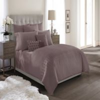 Catherine Malandrino Metro Full/Queen Duvet Cover in Plum