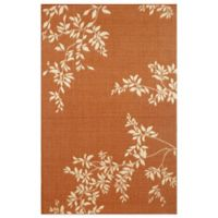 Liora Manne Terrace Vine 3-Foot 3-Inch x 4-Foot 11-Inch Indoor/Outdoor Area Rug in Terracotta