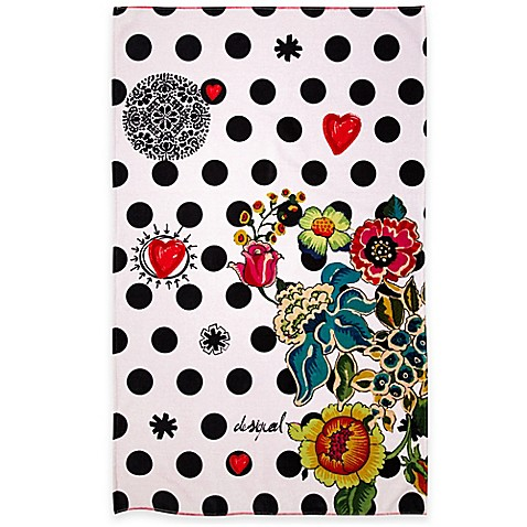 Desigual Polka Dot Bath Towel Collection In Multi