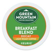 Keurig® K-Cup® Pack 18-Count Green Mountain Coffee® Breakfast Blend Decaf Coffee