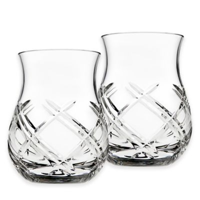 Attractive Top Shelf Bevel Crystal Whiskey Tasters (Set Of 2)
