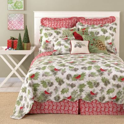 laurel u0026 mayfair winter bird reversible king quilt