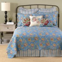 Laurel & Mayfair Jacobean Reversible Standard Pillow Sham in Blue