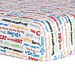 Dr. Seuss™ by Trend Lab® Alphabet Seuss Titles Fitted Crib Sheet