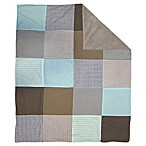 Trend Lab® Cocoa Mint Multi-Patched 2-Layer Receiving Blanket