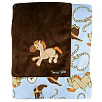 Trend Lab® Cowboy Baby Velour Receiving Blanket in Brown