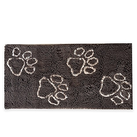 Muddy Buddy Paws 24 Inch X 48 Inch Doormat In Brown Bed