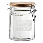 Pet Treats 20 oz. Jar with Airtight Lid in Brown/Clear
