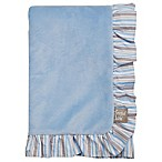 Trend Lab® Logan Velour Ruffled Receiving Blanket