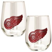 NHL Detroit Red Wings Stemless Wine Glass (Set of 2)