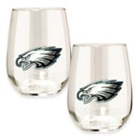 NFL Philadelphia Eagles Stemless Wine Glass (Set of 2)