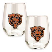 NFL Chicago Bears Stemless Wine Glass (Set of 2)