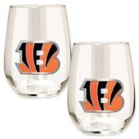 NFL Cincinnati Bengals Stemless Wine Glass (Set of 2)
