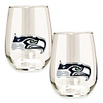 NFL Seattle Seahawks Stemless Wine Glass (Set of 2)