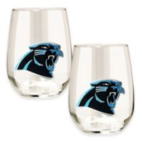 NFL Carolina Panthers Stemless Wine Glass (Set of 2)