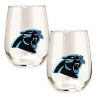 NFL Carolina Panthers Stemless Wine Glass (Set of 2)