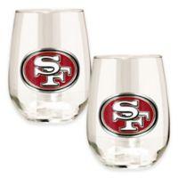NFL San Francisco 49ers Stemless Wine Glass (Set of 2)