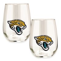 NFL Jacksonville Jaguars Stemless Wine Glass (Set of 2)