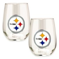 NFL Pittsburgh Steelers Stemless Wine Glass (Set of 2)