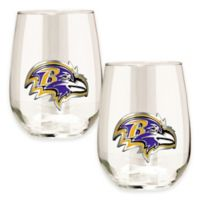 NFL Baltimore Ravens Stemless Wine Glass (Set of 2)