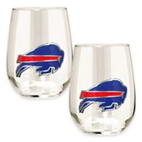 NFL Buffalo Bills Stemless Wine Glass (Set of 2)