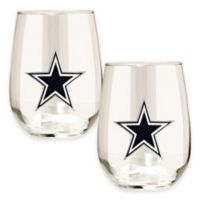 NFL Dallas Cowboys Stemless Wine Glass (Set of 2)