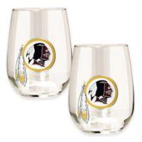 NFL Washington Redskins Stemless Wine Glass (Set of 2)