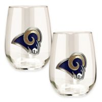 NFL St. Louis Rams Stemless Wine Glass (Set of 2)