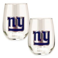 NFL New York Giants Stemless Wine Glass (Set of 2)