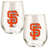 MLB San Francisco Giants Stemless Wine Glass (Set of 2)