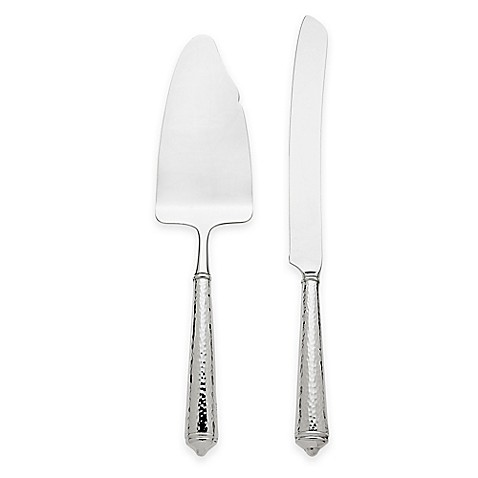 Ricci 174 Argentieri Leopardo 2 Piece Cake Knife And Server