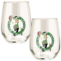 NBA Boston Celtics Stemless Wine Glass (Set of 2)