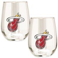 NBA Miami Heat Stemless Wine Glass (Set of 2)