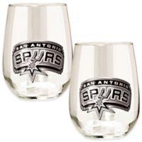 NBA San Antonio Spurs Stemless Wine Glass (Set of 2)