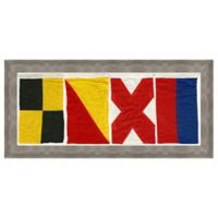 Nautical Flag Love Framed Wall Art