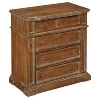 Home Styles Americana Vintage 4-Drawer Chest in Distressed Natural Acacia