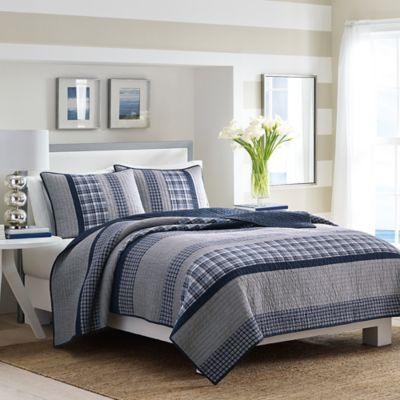 Superior Nautica® Adelson Twin Quilt In Navy
