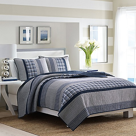 Nautica 174 Adelson Quilt In Navy Bed Bath Amp Beyond