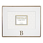 Portfolio by Sheffield Home 4-Inch x 6-Inch Monogram Letter  B  Ceramic Frame in White/Gold