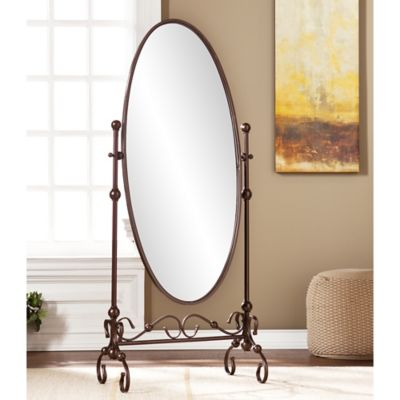 southern enterprises blythe cheval mirror in bronze