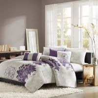 Madison Park Lola Full/Queen Duvet Cover Set in Grey/Purple
