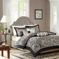 Madison Park Aubrey 6-Piece King Duvet Cover Set in Black